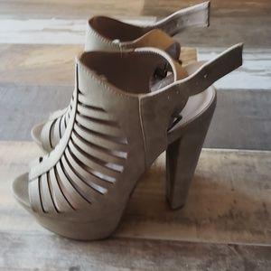 Charlotte Russe Beige nude heels